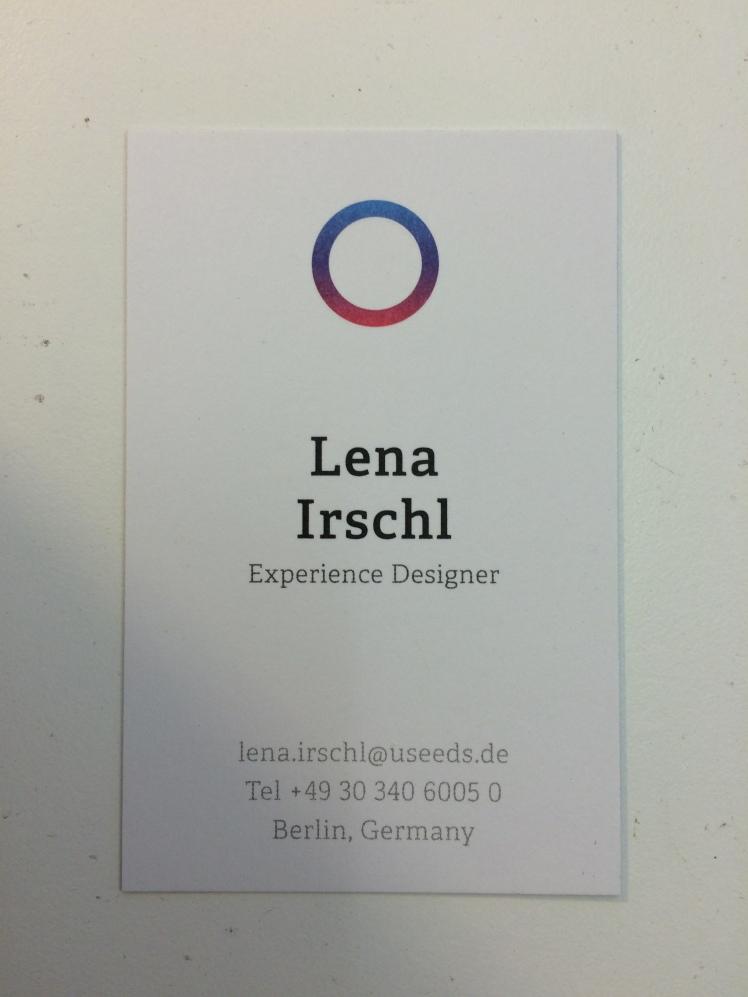 Meine Job-Visitenkarte